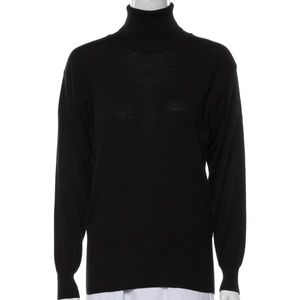 Bogner Black Wool Turtleneck